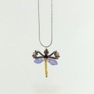 Robin Goodfellow Amethyst Dragonfly Necklace