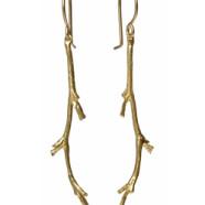 Catherine Weitzman Gold Branch Earrings