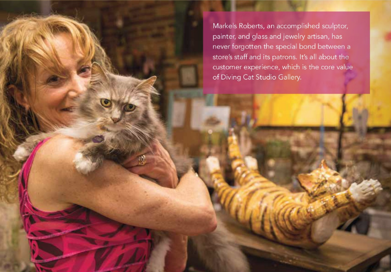 Diving Cat Studio and the Customer Experience featured in Chester County News Article