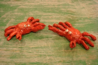 Little Ceramic Crab Sculptures